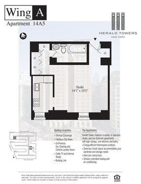 Unit For Rent For Rent: 50 WEST 34TH STREET #14A05