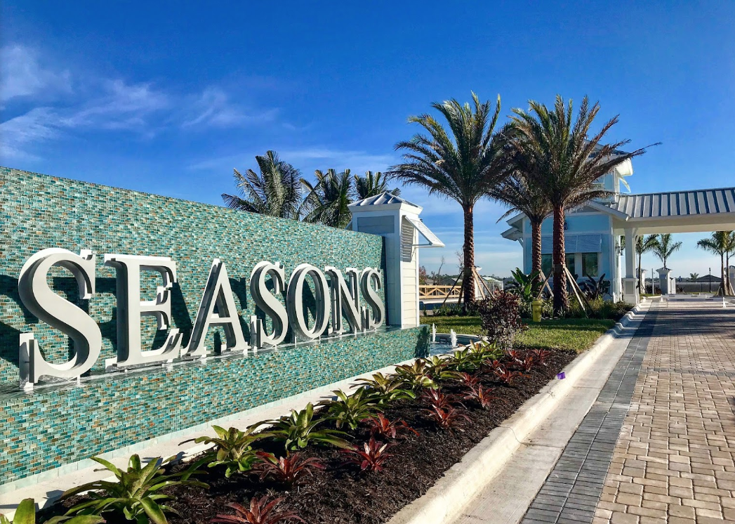 Entry to Seasons Bonita a new community in Bonita Springs by DR Horton