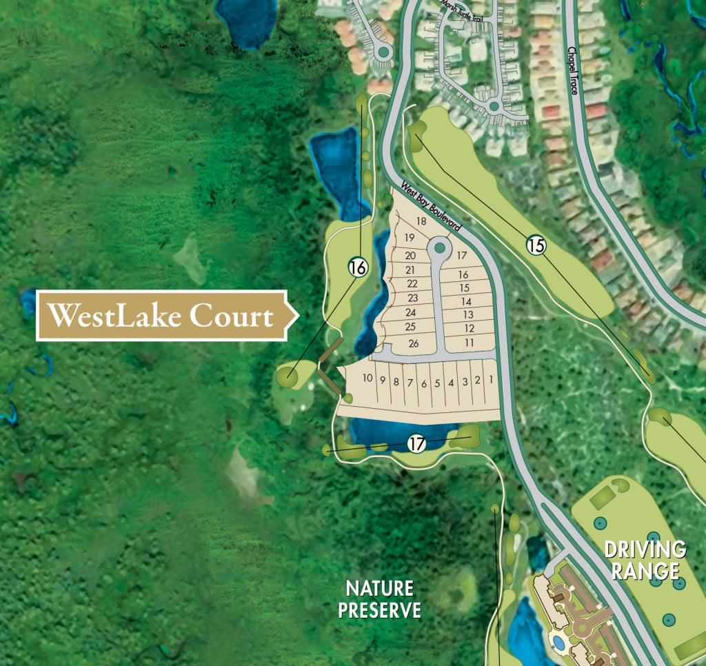 WestLake Court new homes West Bay Estero