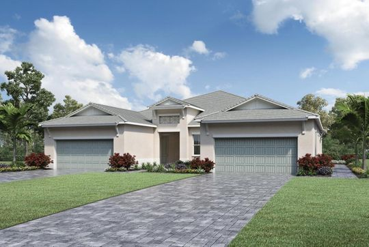 Rendering of villas in the new Abaco Pointe community Naples FL