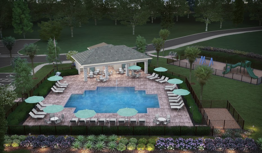 Artists rendering of Eagle Reserve Fort Myers proposed amenity area