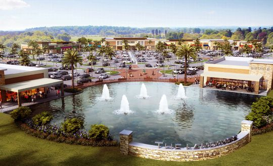 Rendering of Logan Landings retail on SE cnr of Immokalee Rd and Logan Blvd in North Naples. Off the Bone Rib House and Oak & Stone to be located here