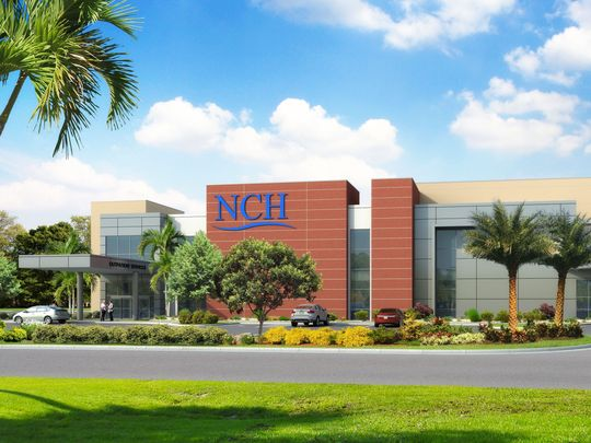 Rendering of new NCH Healthcare facility in Bonita Springs FL