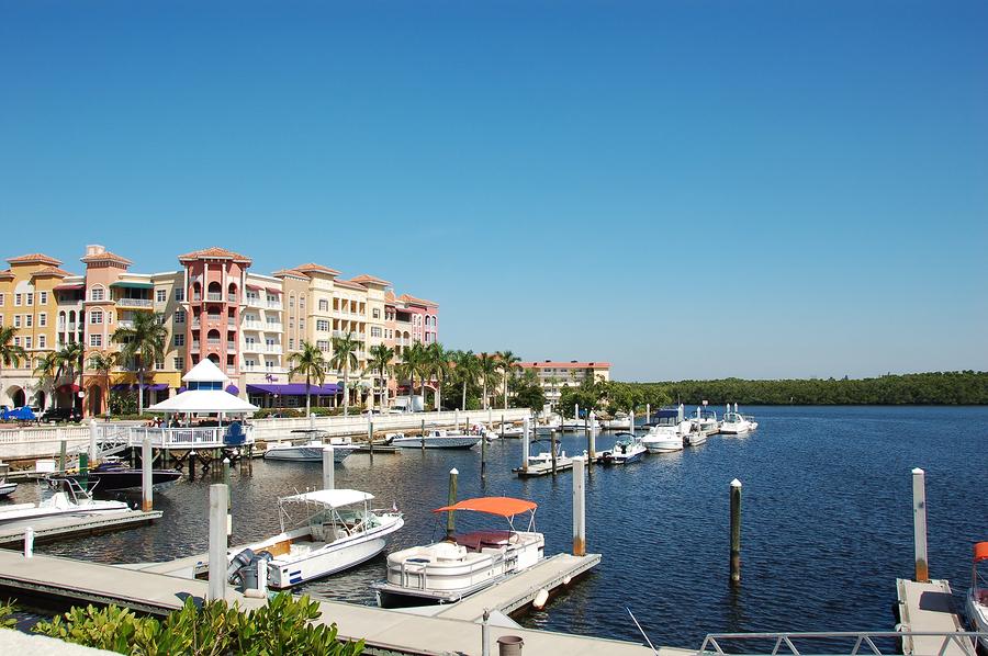 Naples Florida waterfront and marina