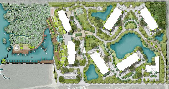 Weeks Fish Camp property rendering of proposed Bayview on Estero Bay