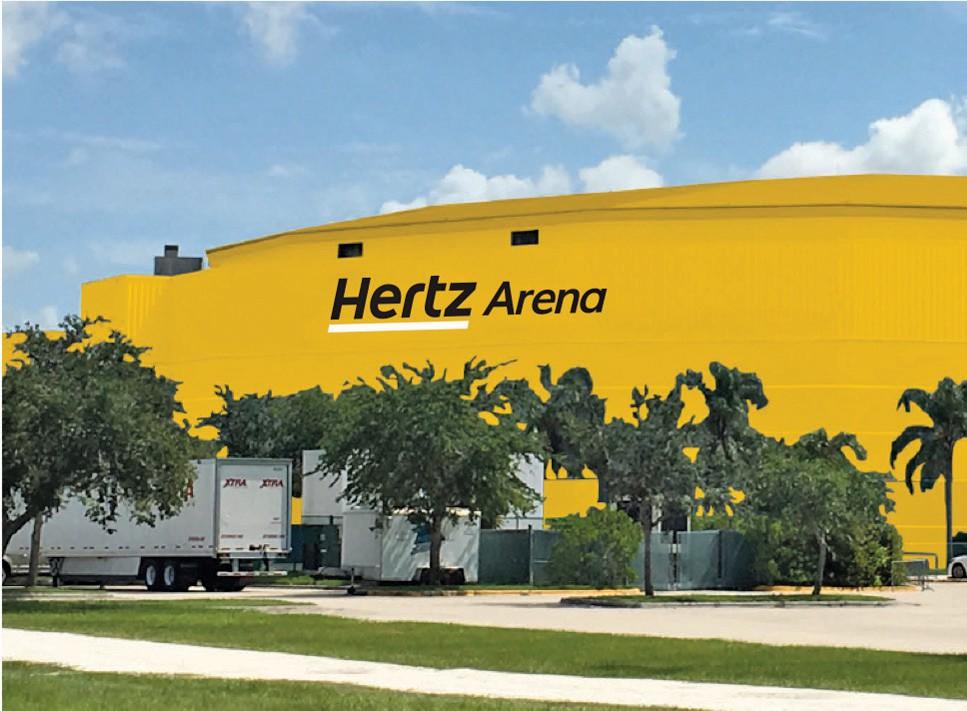 Rendering of proposed renamed Hertz Arena in Estero FL