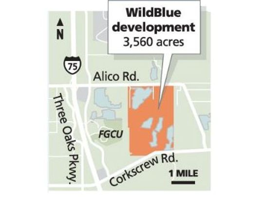 map showing location of Wild Blue in Estero FL