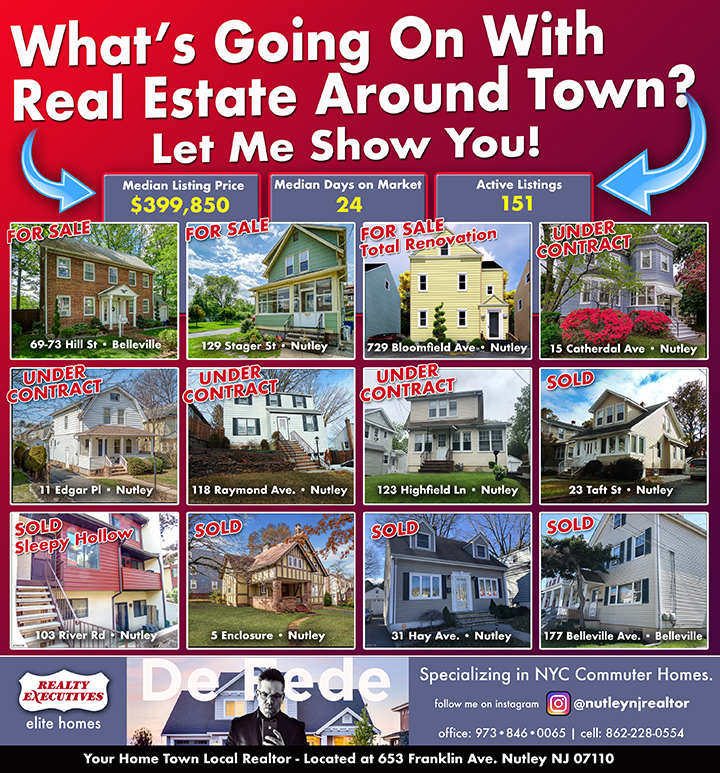 Our Latest Ad in the Nutley Journal