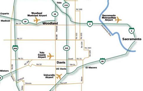 Davis California Map on