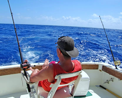 Fishing the Beautiful Blue waters of the Gulf of Mexico