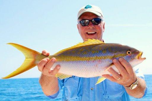 Steve McInturff With A Yellowtail Snapper