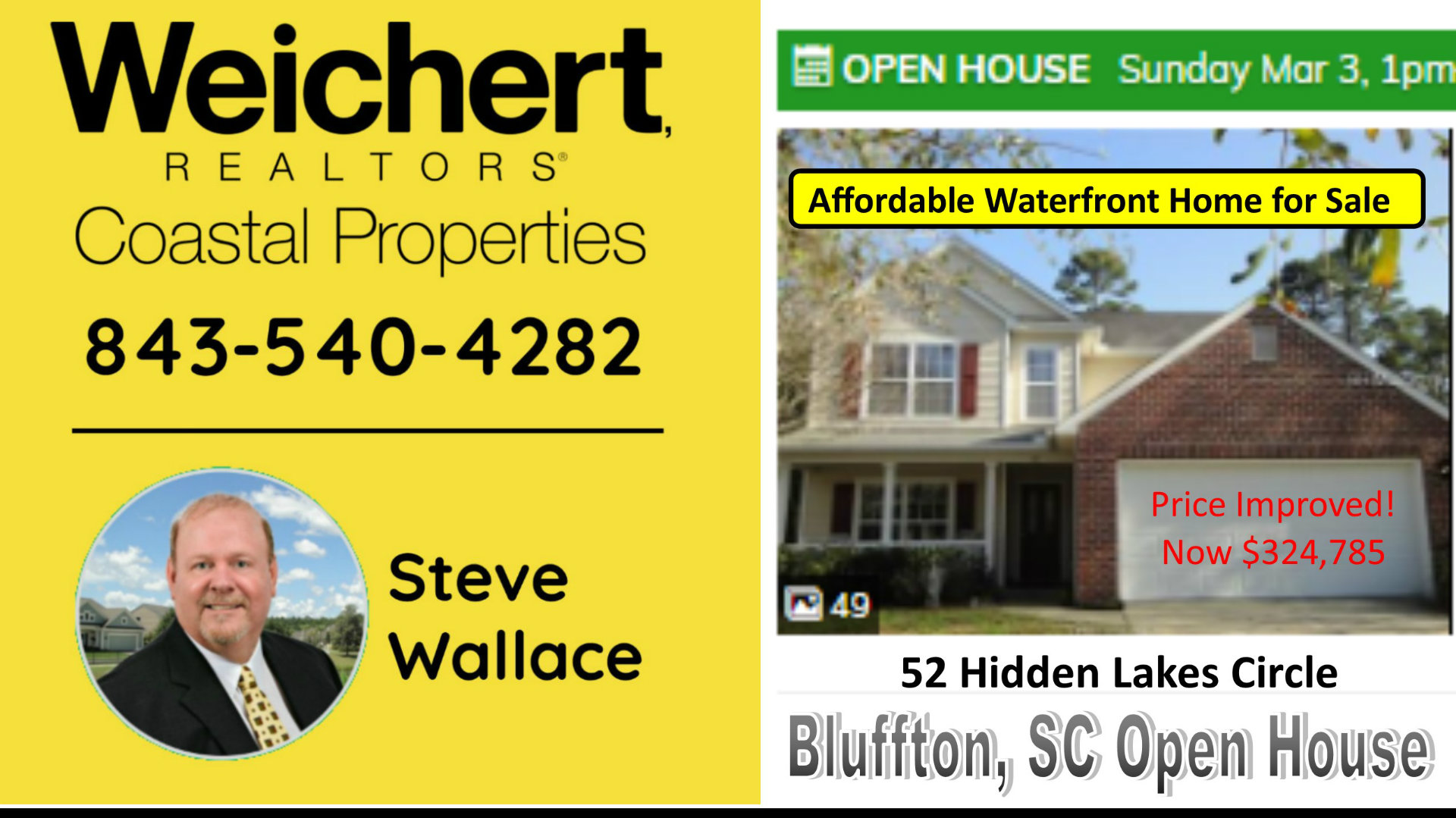 Affordable, Waterfront, Home, Bluffton, SC, Open House