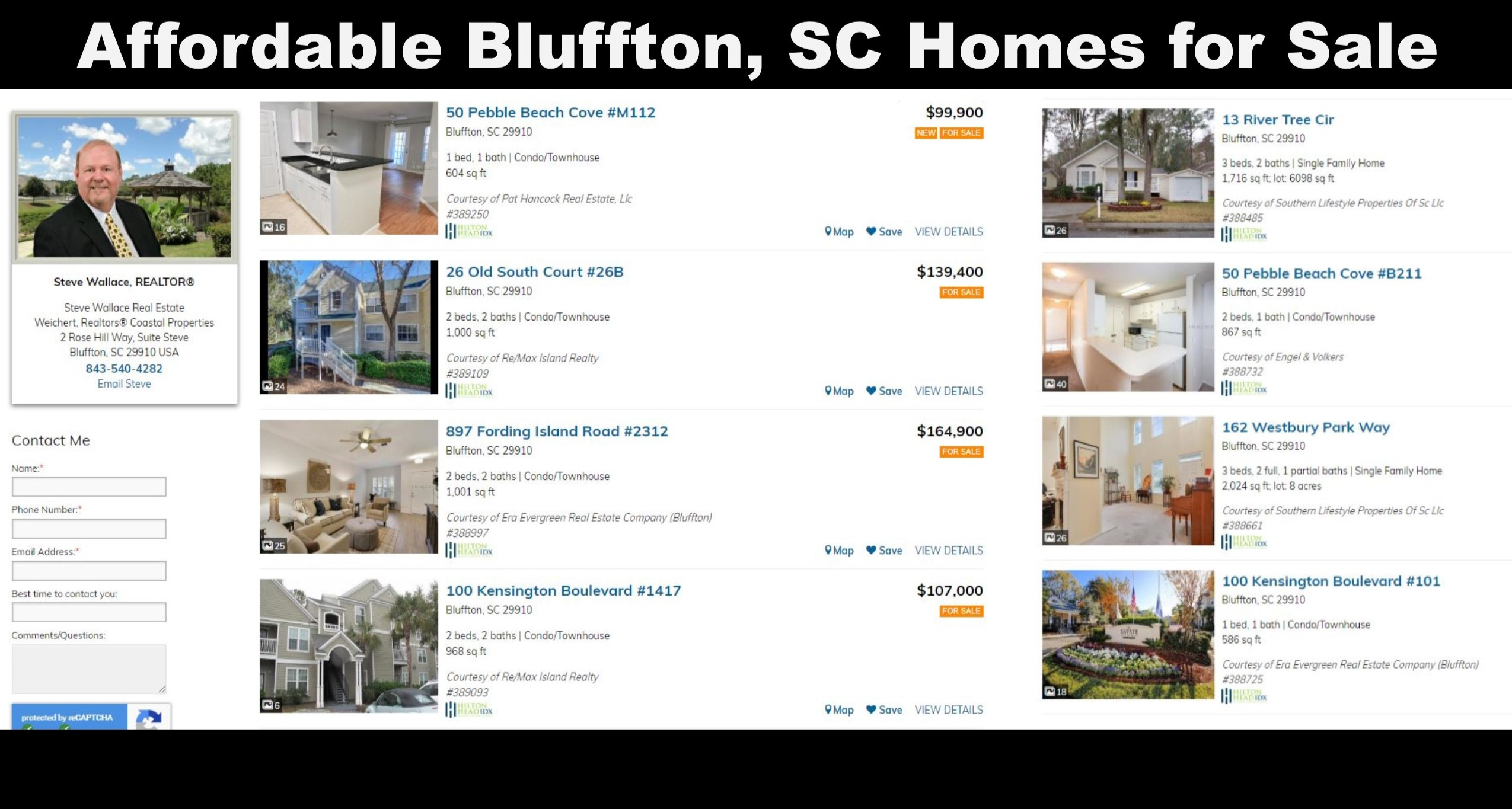 Affordable Homes, Single-family, Bluffton, SC, Townhouses, Condos, Villas