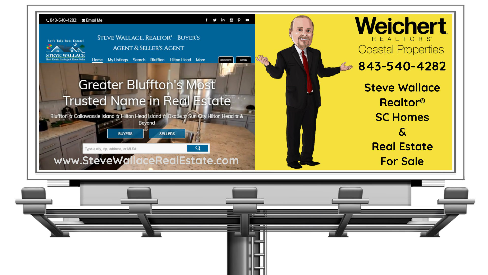 South Carolina Real Estate, Billboard, Trusted Name, SC Homes for Sale, Steve Wallace