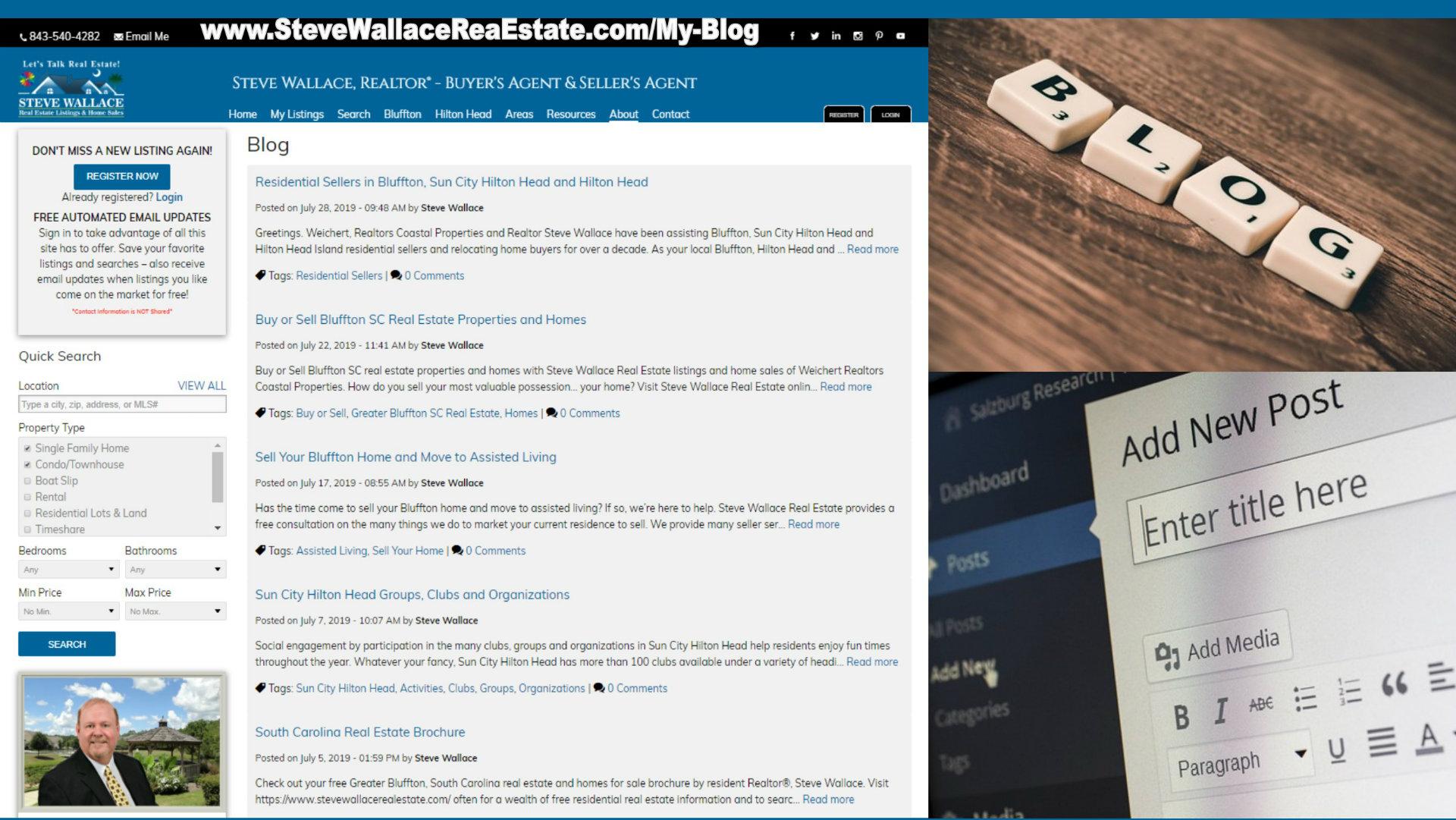 steve wallace, real estate, blogger, blogging, blog, homes, bluffton, sc, sun city, hilton head