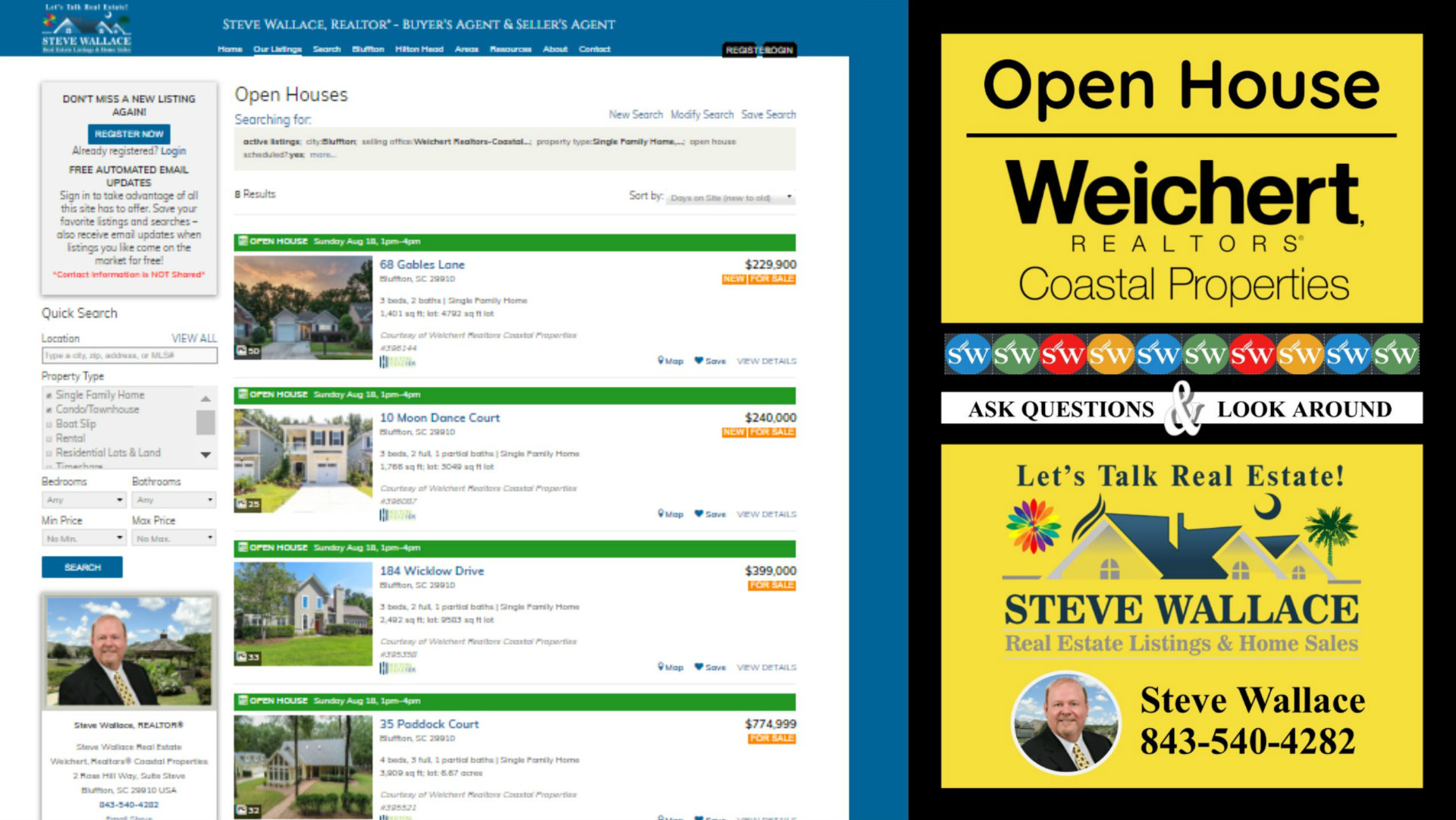 featured, open houses, Greater Bluffton, SC, real estate, listings, homes for sale
