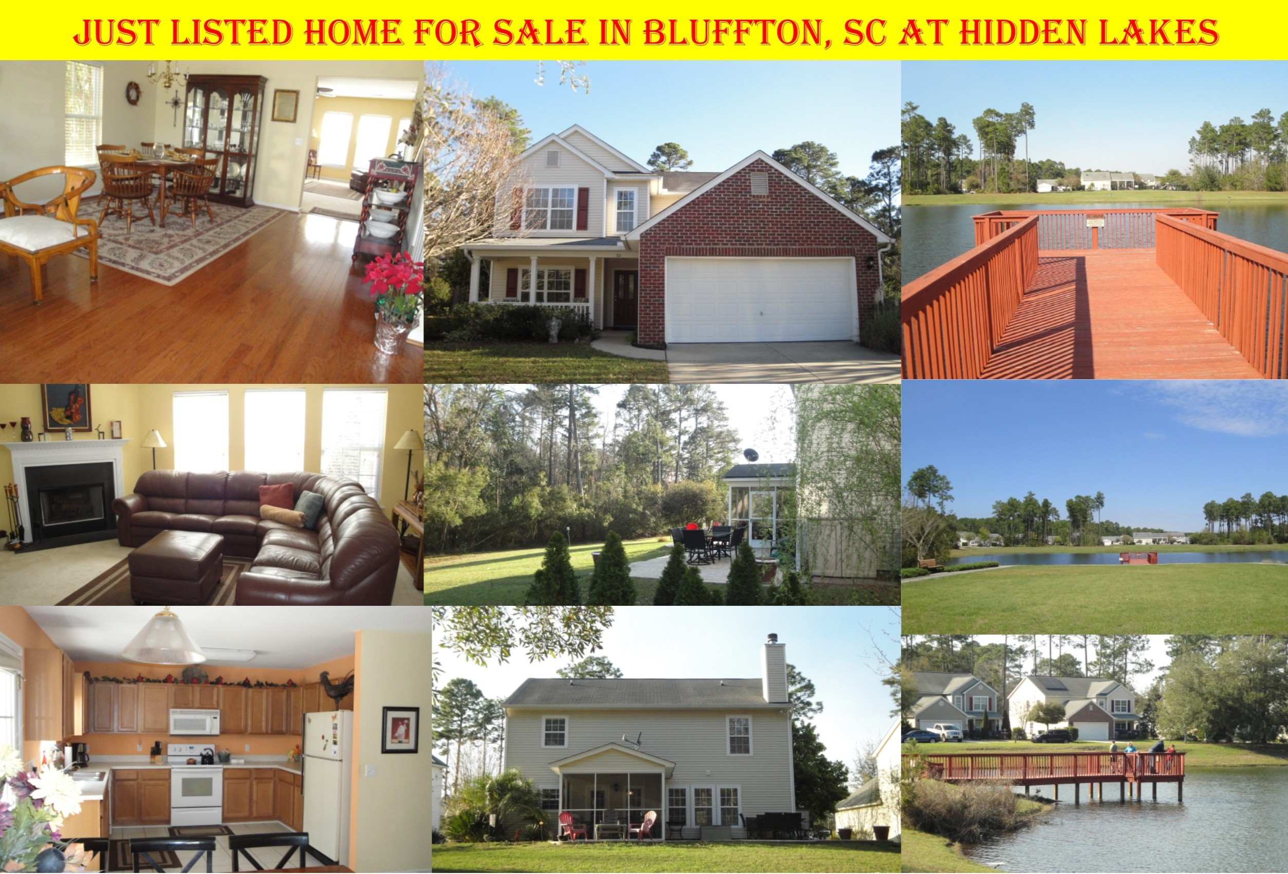 Just Listed, Homes for Sale, Bluffton, SC, 29910, Hidden Lakes, Lake Troy, Waterfront