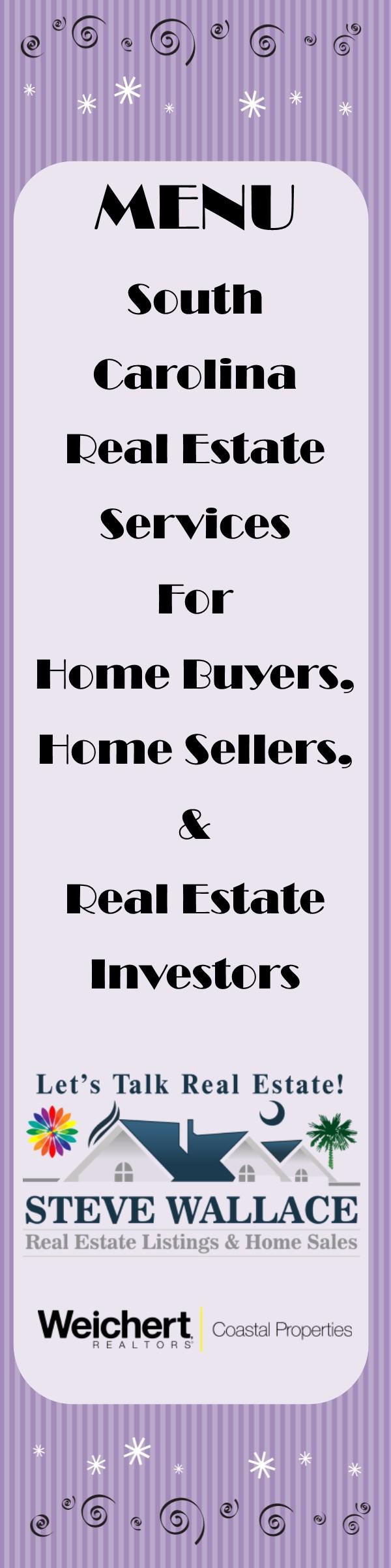 South Carolina, Menu, Real Estate, Bluffton, Sun City, Hilton Head, Realty, Menus