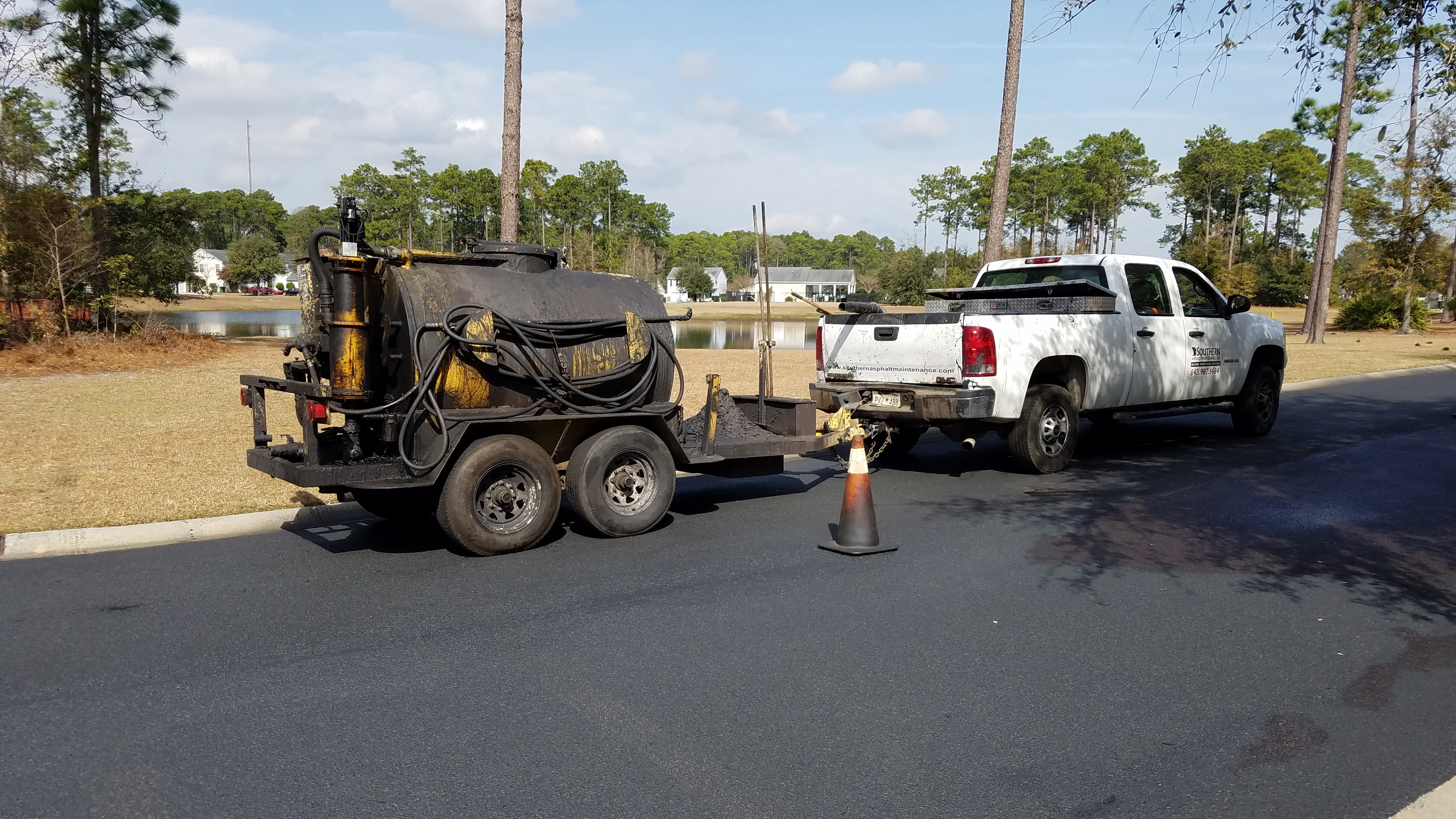 Road Paving, Sealcoating, Hidden Lakes, Bluffton, SC, Preventive, Maintenance