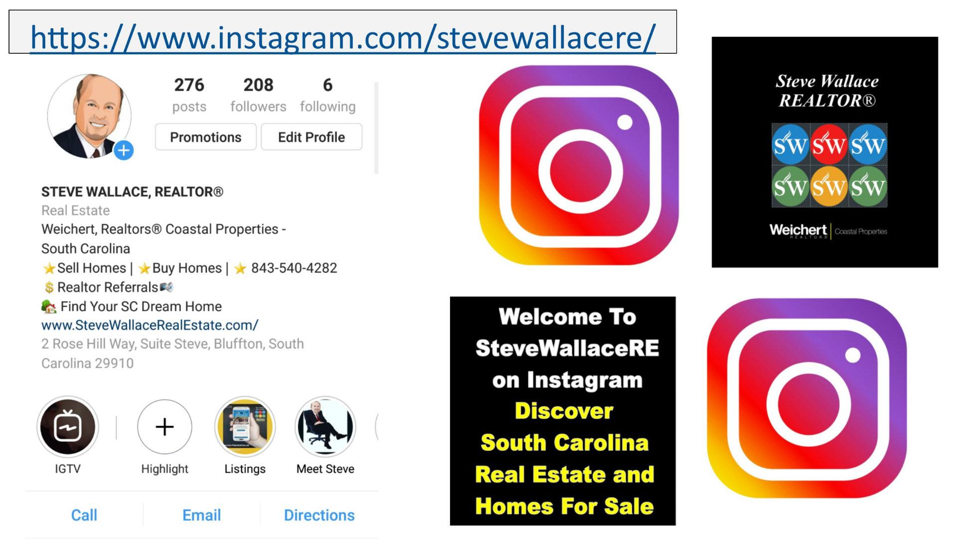 Bluffton, SC, Realtor, Steve Wallace, Instagram, stevewallacere