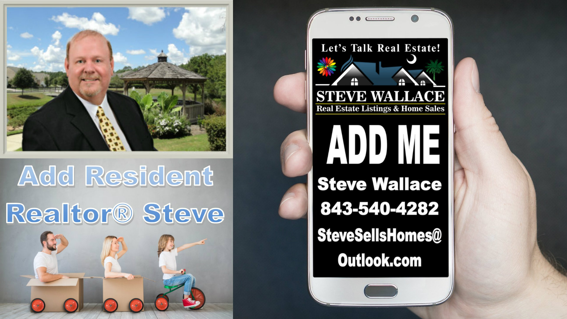 Add SC Realtor, Steve Wallace, Smart Phone, Contacts