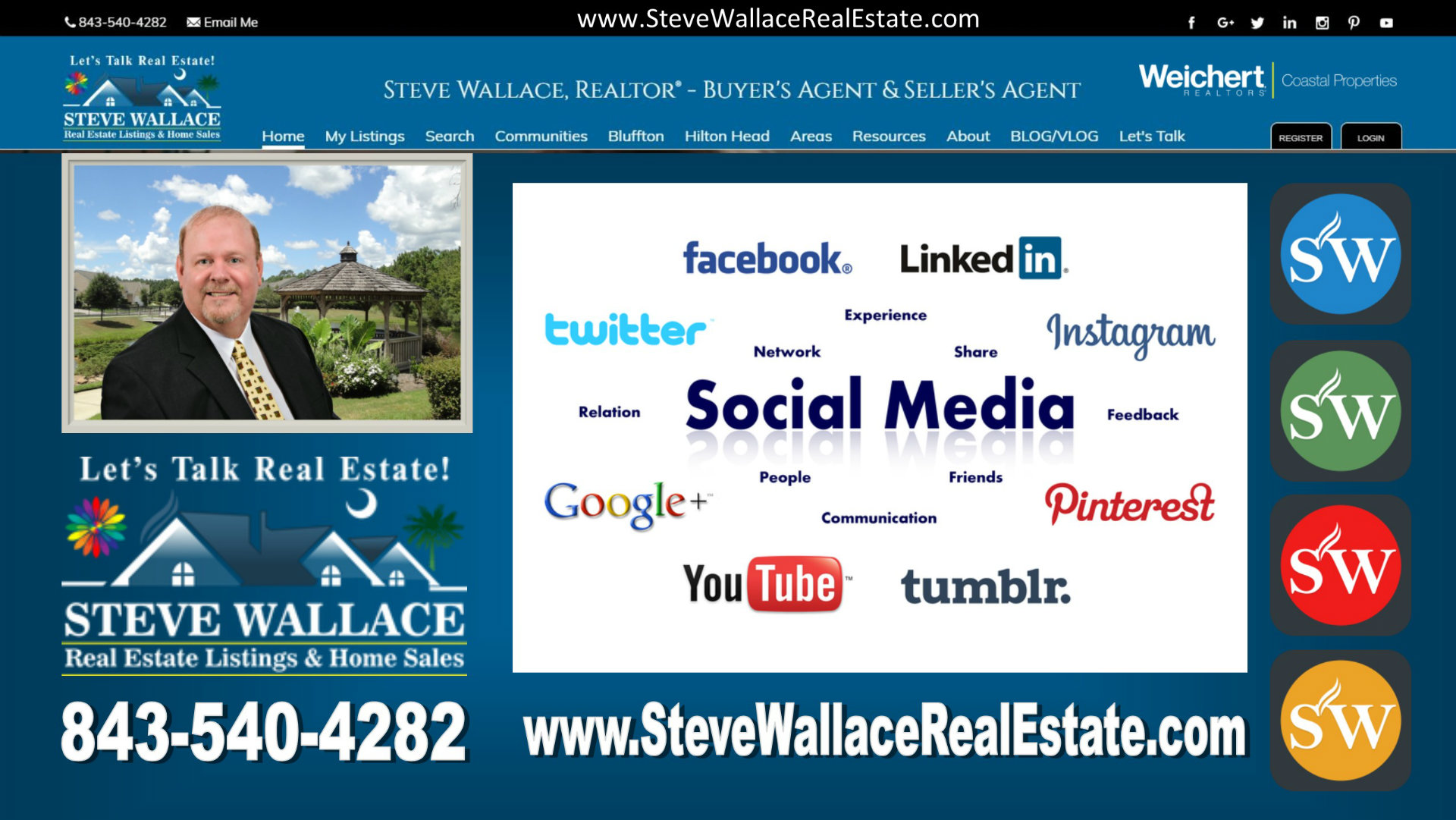 Bluffton, SC, real estate on facebook, Steve Wallace Real Estate, youtube