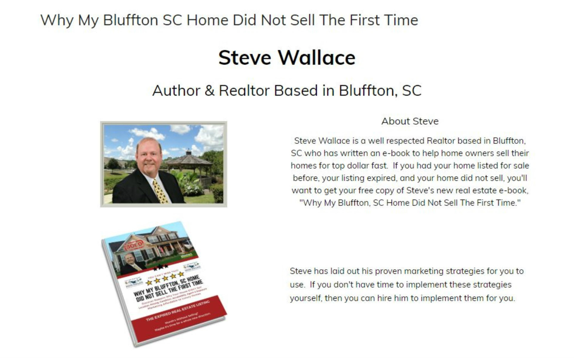 Instant Access, ebook, Bluffton SC, real estate, sell my home