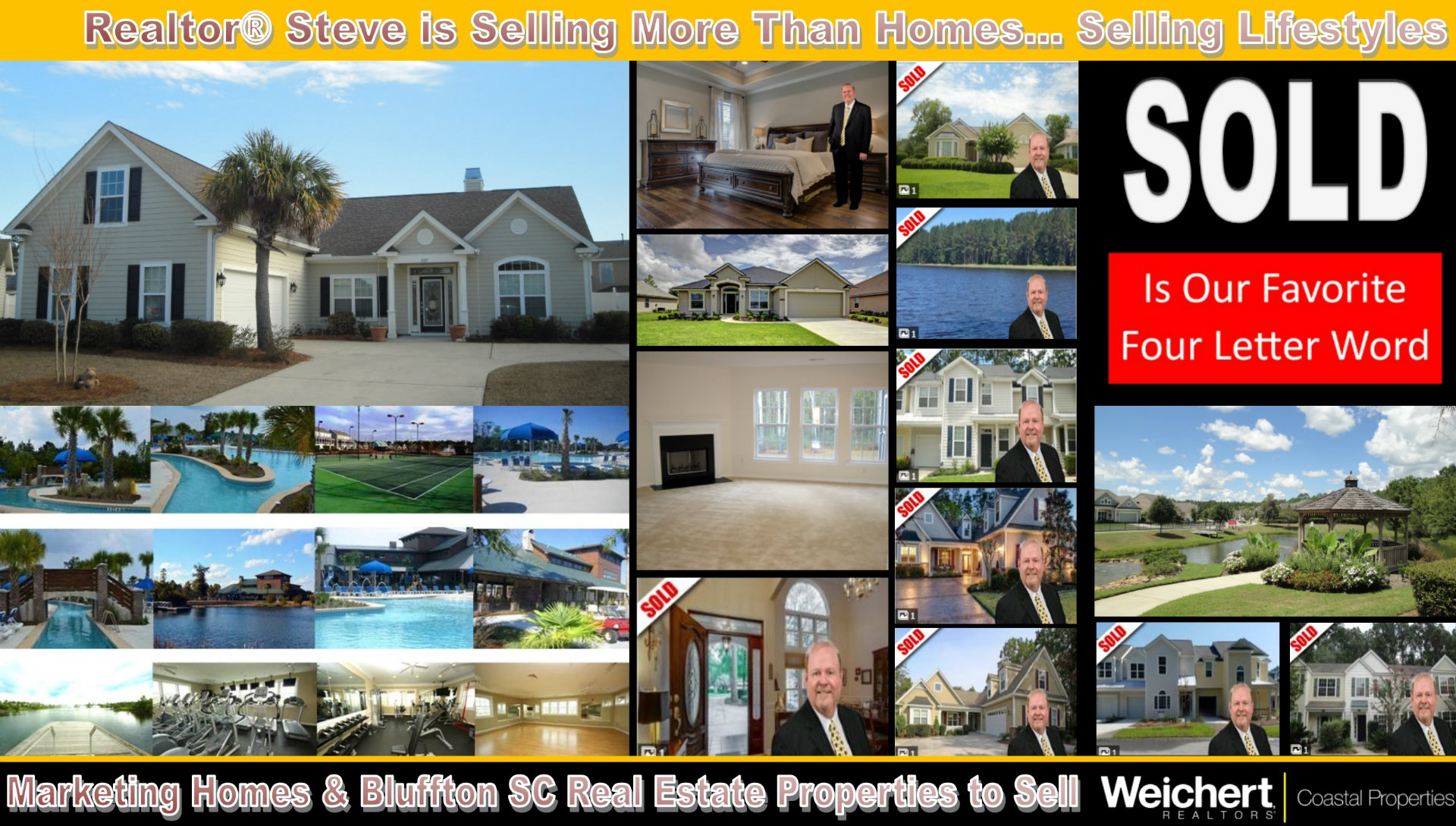 Realtor, Steve Wallace, Markets, Sells, Bluffton SC, Real Estate, Homes, Lifestyles