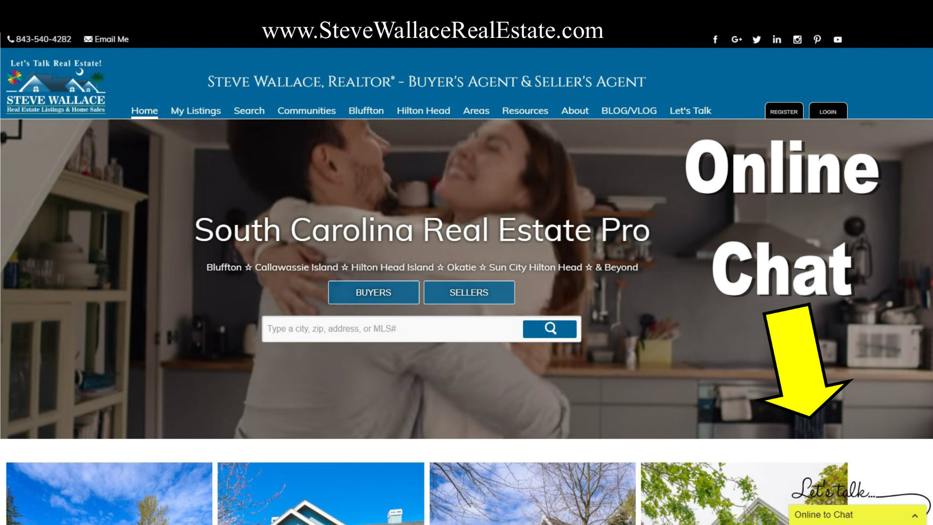 tawk, talk, to, south carolina real estate, agent, bluffton, chat