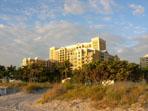 The Ritz Carlton from the beach
