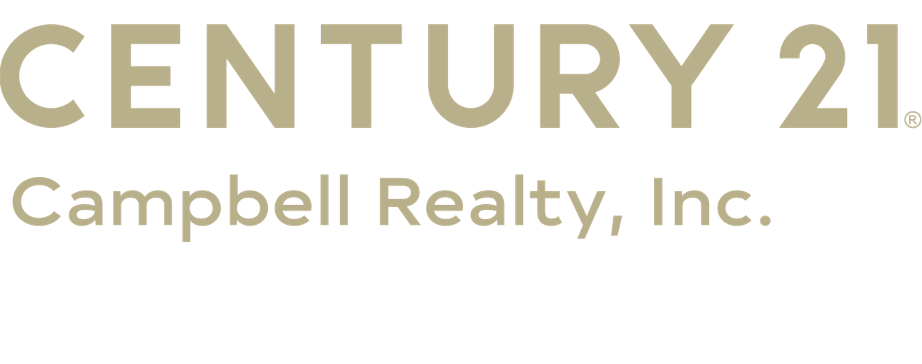 CENTURY 21 Campbell Realty, Inc. logo with rebranded gold lettering