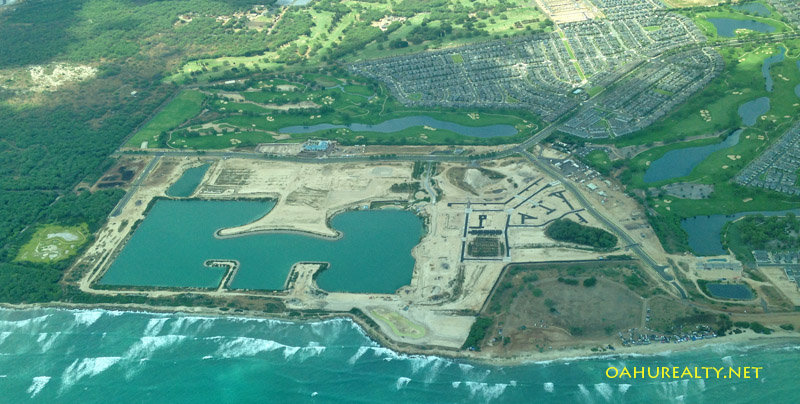 Hoakalei lagoon from the air