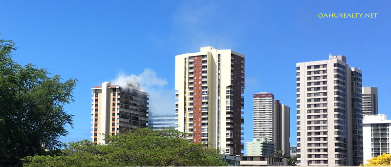 top floor fire rainbow place moiliili