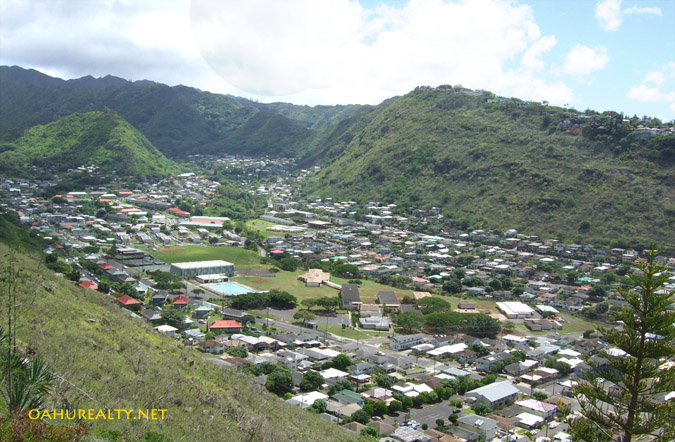 palolo valley viewed from saint louis heights