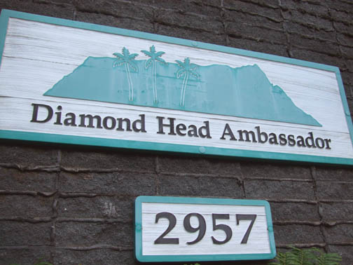 diamond head ambassador sign