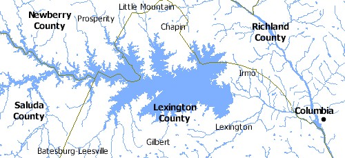 Map of Lake Murray