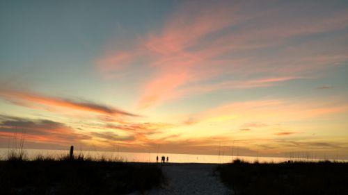 anna maria beach sunset
