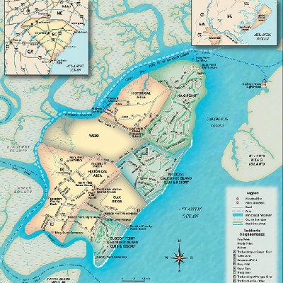 Daufuskie Island Map on