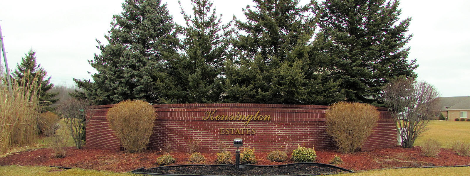 Kensington Estates Subdivision Brownstown Mi sign