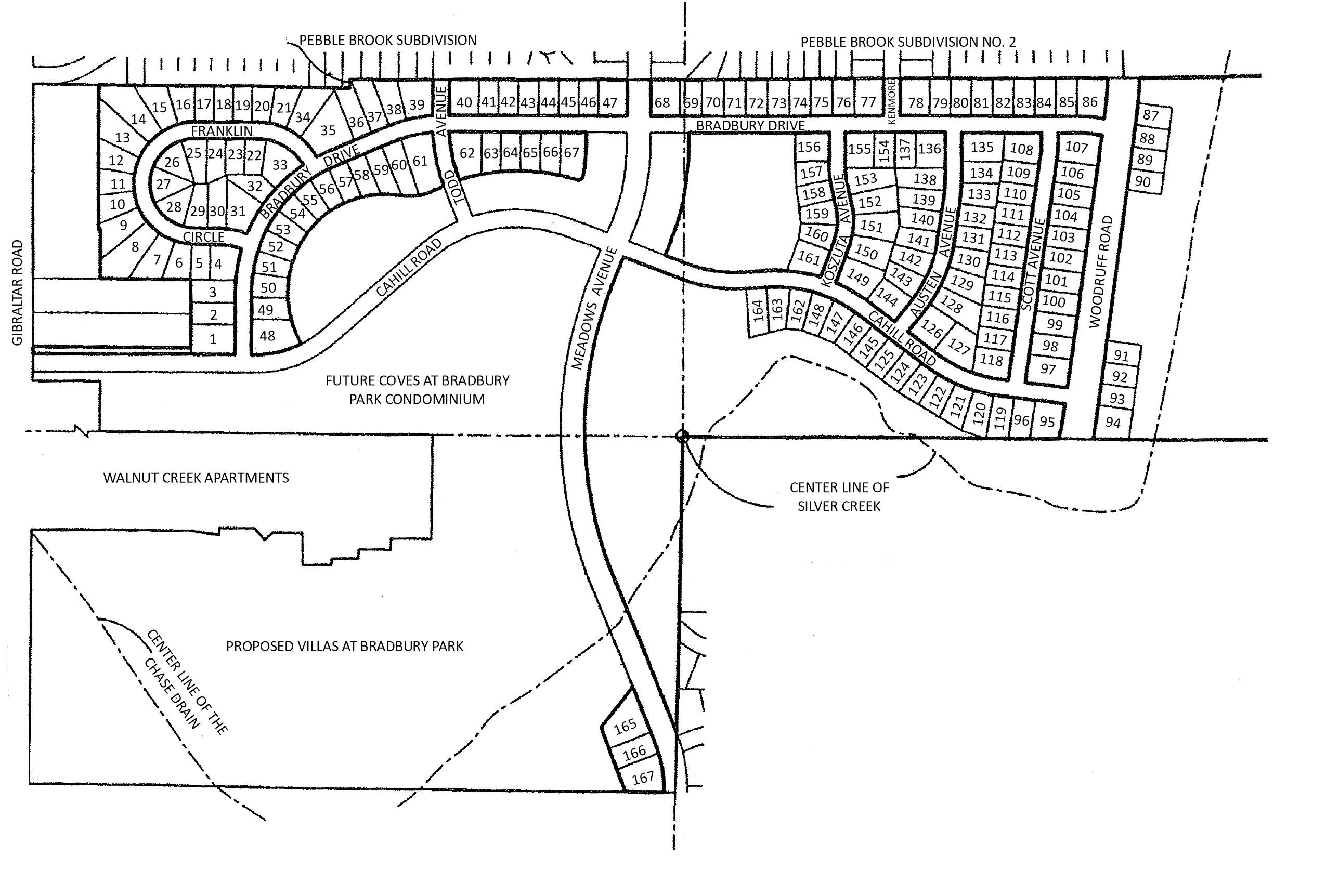 Preserves at Bradbury Park Site Plan Flat Rock Michigan 48134