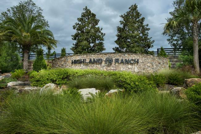 Highland Ranch Entrance Sign
