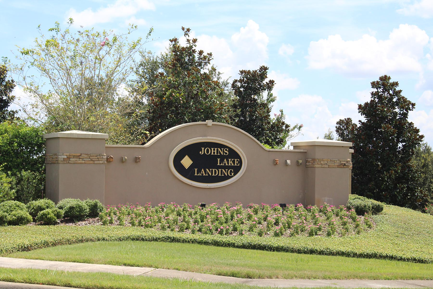 John's Lake Landing Entrance Sign