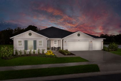 Exterior Model Home Lake Minneola Landings Clermont FL