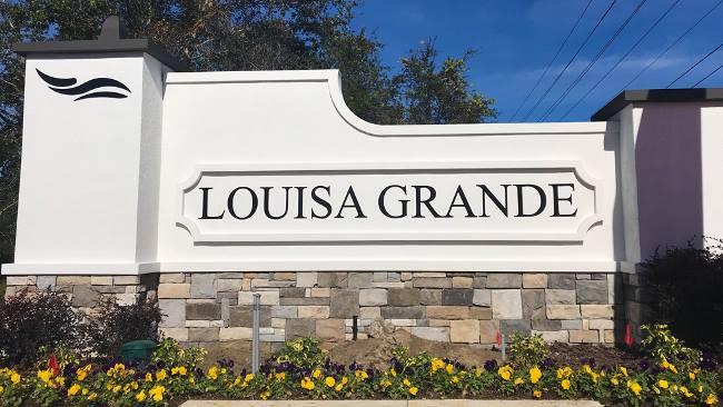 Louisa Grande Entrance Sign