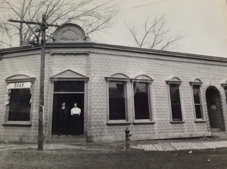The Huckleberry builindg in the 1800s at 700 Main Street