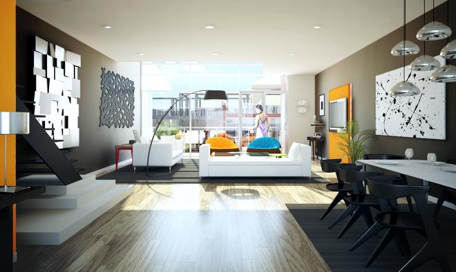 The Modern Loft Interior