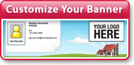 Customize Your Banner (Upload Photo and Logo)