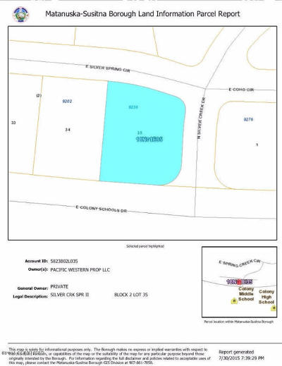 Palmer Residential Lots & Land For Sale: 9236 Silver Spring Circle