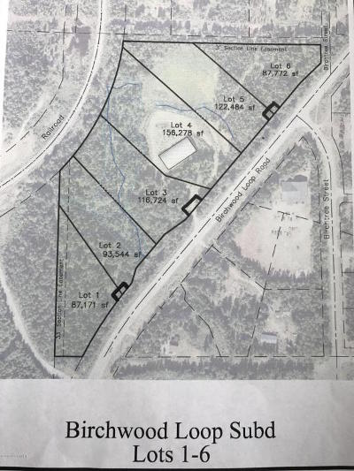 Chugiak Residential Lots & Land For Sale: L4 Birchwood Loop Road