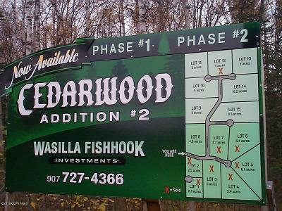 Wasilla Residential Lots & Land For Sale: L14 Ironwood Circle